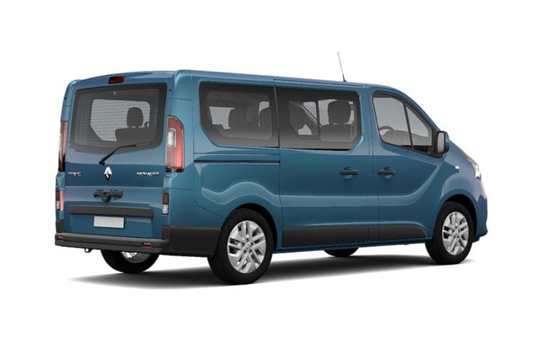 Renault Trafic 28 SWB MiniBus M1 2.0 dCi FWD 145PS SpaceClass Minibus Manual [Start Stop] [8Seat] back view
